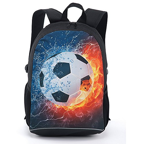 CARBEEN 17 Inch Soccer Ball Backpack School Bag