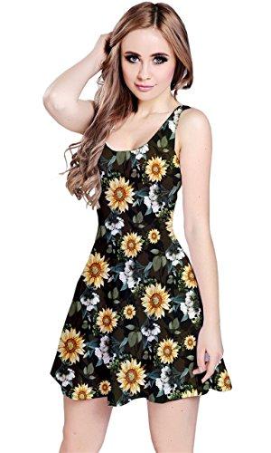 CowCow - Vestido - para mujer Yellow Sunflower