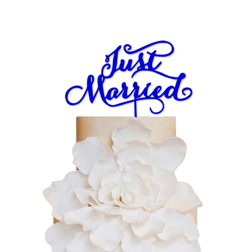 Sugar Yeti ブランド 米国製 ウェディング ケーキトッパー アクリル製 ケーキトッパー スペシャルイベント 誕生日 結婚式に Just Married ブルー SYcaketopperallStyle021Royal Blue B01C207RK6 Just Married|ロイヤルブルー ロイヤルブルー Just Married