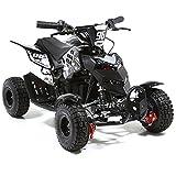 FunBikes 800w Electric Kids Mini Quad Bike Mini Moto ATV - Ride on toy boys girls (Black)
