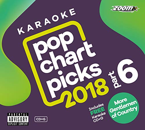 - Zoom Karaoke CD+G - Pop Chart Picks 2018 (Part 6) inc. A Star Is Born + FREE Country Gentlemen CD+G