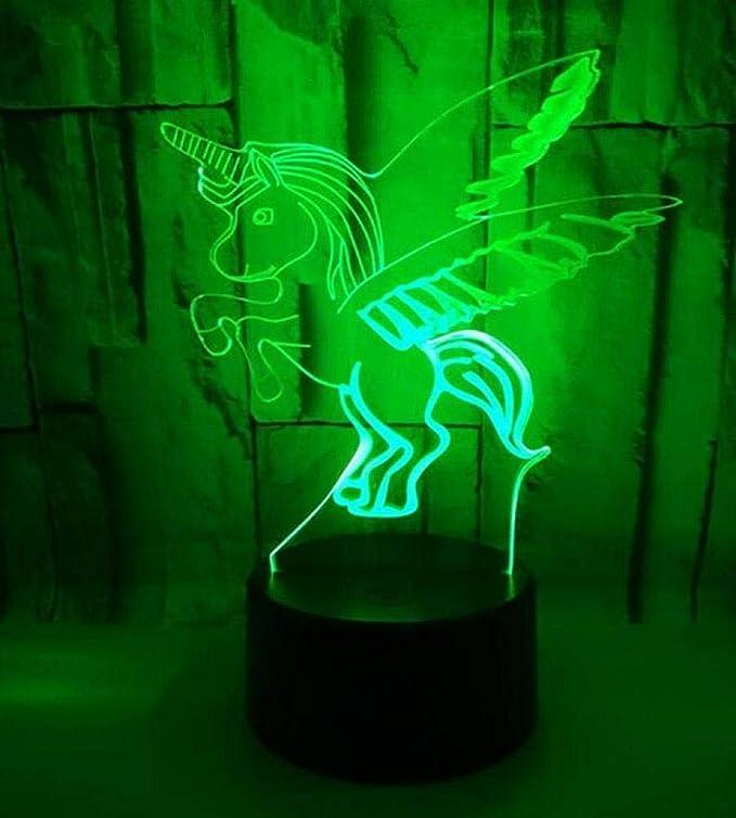 Amazon.com: CTO Lámpara de la Noche de 3D Led 7 Colores Que Cambian la Lámpara de la Ilusión Del Unicornio 3D para el Sitio de Los Niños Decoración Casera ...