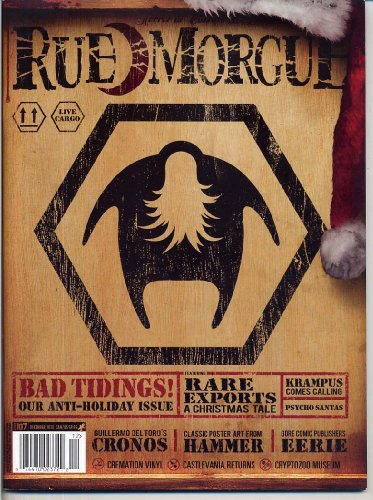 Rue Morgue Magazine 107 BAD TIDINGS Krampus EERIE PUBLICATIONS Cronos SINT Hammer Classic Poster Artwork WEIRD December 2010 - Portland Singles In Maine