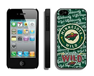 New Case for Apple Iphone 4s NHL Minnesota Wild 1 Best Iphone 4 Cover Mobile Accessories