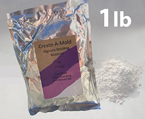 Create-A-Mold Craft Alginate Molding Powder for Life Casting (1 lb)
