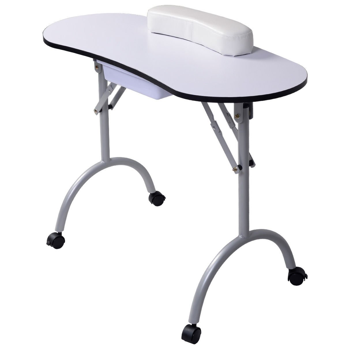 New Portable Manicure Nail Table Station Desk Spa Beauty Salon Equipment White by Unbranded (Image #2)