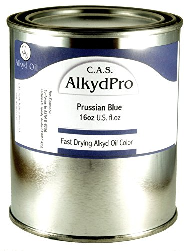 C.A.S. Paints AlkydPro Fast-Drying Oil Color Paint Can, 16-Ounce, Prussian Blue by C.A.S. Paints