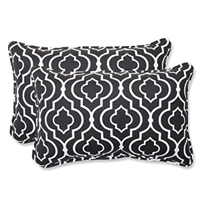 Pillow Perfect Outdoor Starlet Night Rectangular Throw Pillow, Set of 2 - Includes two (2) outdoor pillows, resists weather and fading in sunlight; Suitable for indoor and outdoor use Plush Fill - 100-percent polyester fiber filling Edges of outdoor pillows are trimmed with matching fabric and cord to sit perfectly on your outdoor patio furniture - living-room-soft-furnishings, living-room, decorative-pillows - 51qXFvcnnuL. SS400  -