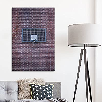 Made to Last, Wonderful Picture, Sports Theme Basketball Backboard on a Vintage Brick Wall