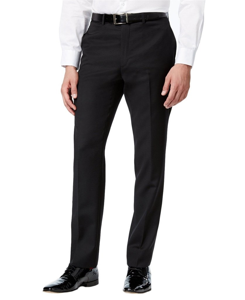 Bocaccio Uomo Men's TX100 Tuxedo Dress Pants- Black- 36