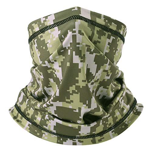 Summer Camo - dilib Summer Camo Face Mask&Neck Gaiter, Camo Fishing Mask, Dust, Sun UV Protection Face Cover/Scarf Tube - Ideal for Fishing&Hiking&Cycling&Outdoor Sports - UPF 30 Thin Breathable Lycra