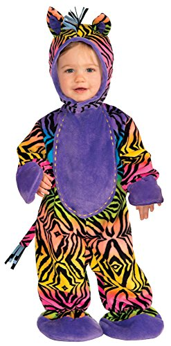Zebra Costume Horse (Forum Novelties Baby Boy's Lil' Party Animals Rainbow Zebra, Multi,)