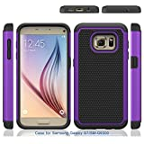S7 Case, Galaxy S7 Case, Speedup Shock Absorption Drop Protection Hybrid Dual Layer Armor Defender Protective Case Cover for Samsung Galaxy S7 SM-G930 (2016) (Purple)