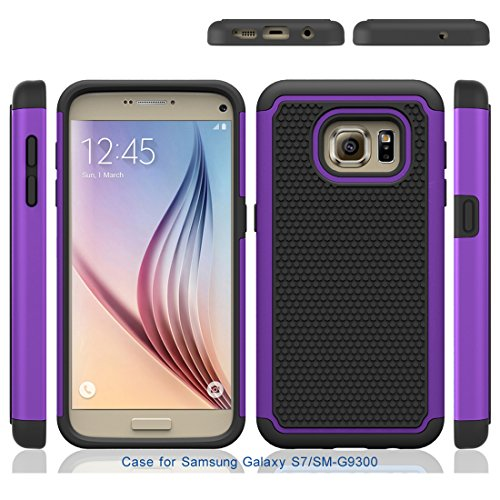 S7 Case, Galaxy S7 Case, Speedup Shock Absorption Drop Protection Hybrid Dual Layer Armor Defender Protective Case Cover for Samsung Galaxy S7 SM-G930 (2016) (Purple) by Speedup