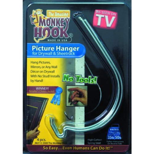 The Amazing MONKEY HOOK Picture Hanger for Drywall
