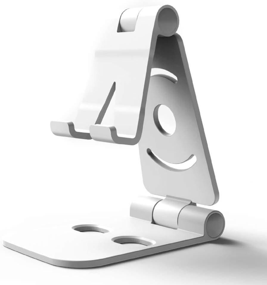 Portable Folding Cell Phone Desk Stand Holder Bracket Black Adjustable Angle Tablet Standing Rack for All Mobile Smart Phone Tablet Display