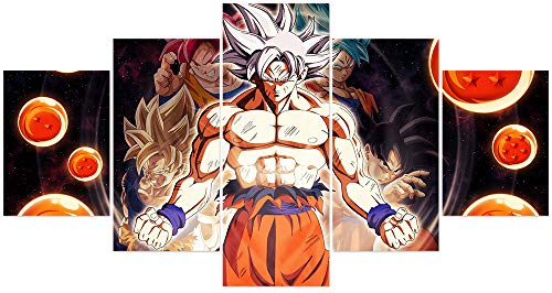 Jackethings Dragon Ball Z and Super Poster Saiyan Unframed Goku Anime Canvas Prints Wall Art Pictures Bedroom Decoration (Goku Super Saiyan Poster)