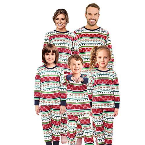 Matching Family Christmas Pajamas Set Pjs Holiday Pyjamas Xmas Sleepwear Kids Boys Girls Nightwear,Men,XL