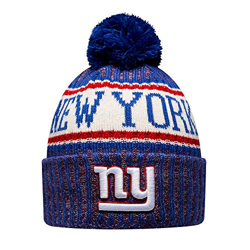 New Era NY Giants NFL 18 Sideline Sport Knit Hat Red/White/Blue Size One Size