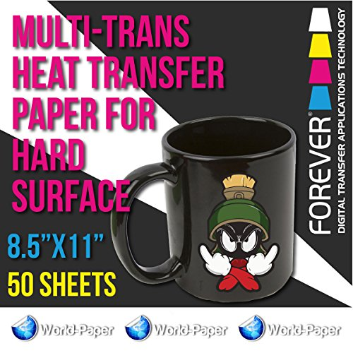 "Forever Multi-Trans Heat Transfer Paper for Hard Surface 50 Sheets 8.5"" x 11"""