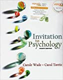 Invitation to Psychology, Wade and Carol Tavris, 0136158617