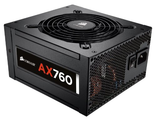 Corsair AX Series, AX760, 760 Watt (760W), Fully Modular Power Supply, 80+ Platinum Certified by Corsair