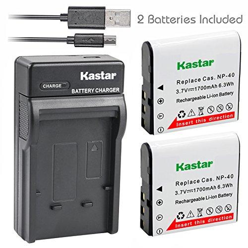 - Kastar Battery X2 & Slim USB Charger for Kodak LB-06 LB06 LB-060 LB060 PixPro AZ251 AZ365 AZ421 AZ525, Casio Exilim Zoom EX-Z650, HP V5060 V5061 V556 V556AU V5560 V5560U V5560AU, BENQ Dli-202 DLi202