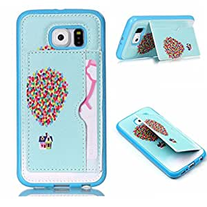 S6 Case,Wallet S6 Case,Leather Case S6,S6 Case wallet,Galaxy S6 Case,S6 Flip Case,Kaseberry Premium Elphant Leather Wallet Case Skin Cover for Samsung Galaxy S6