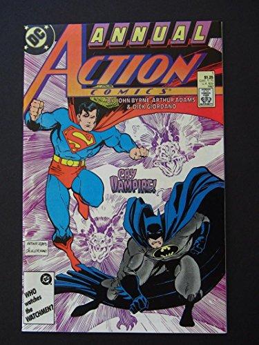 ACTION COMICS #1, NM-, Annual, Batman, Arthur Adams, Superman, Vampire, DC, 1987