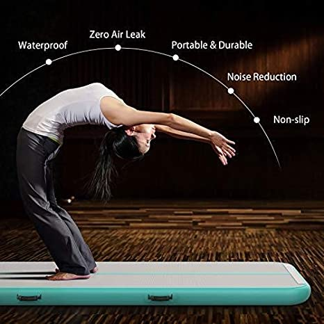 Details about  /Air Track Gymnastics Mat 13ftx3.3ftx6in Yoga Stretch Workout Gym Tumbling Pad