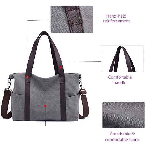 Ladies Blue Bag Tote Daily Shoulder Hobo Canvas Shopper Handbag Purse Women Retro Bag Tx1UAA6