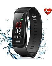 AKASO Fitness Armband mit Pulsmesser, Wasserdicht Fitness Tracker Aktivitätstracker Farbbildschirm Schrittzähler Kalorienzähler Schlafanalyser Pulsuhren Smartwatch Fitnessuhr für Android & iOS