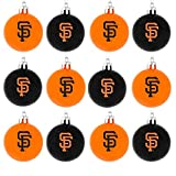 MLB Plastic Ball Ornament (Set of 12) MLB Team: San Francisco Giants