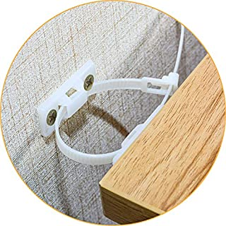 Furniture Straps,(20-Pack) Wall Anchor, Furniture Anchors for Baby Proofing Safety, Anti Tip Furniture Kit, Furniture Wall Straps, Bearing 132Ib, Nylon Straps
