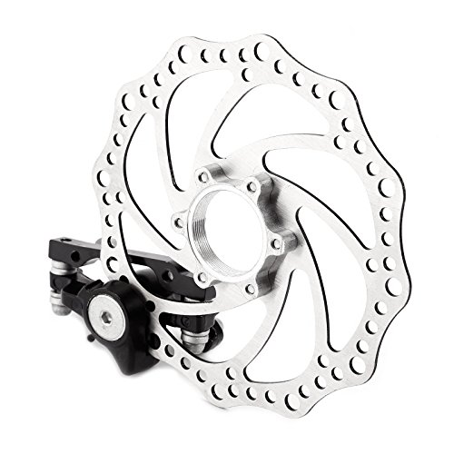 Mountain Bicycle Bike Mechanical Disc Brake F-160mm/R-140mm + Free Rotors 160mm