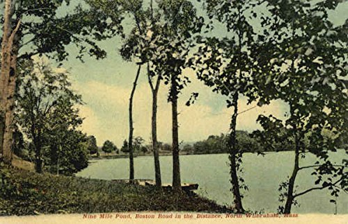 Nine Mile Pond, Boston Road in the Distance North Wilbraham, Massachusetts Original Vintage (Nine Mile Pond)