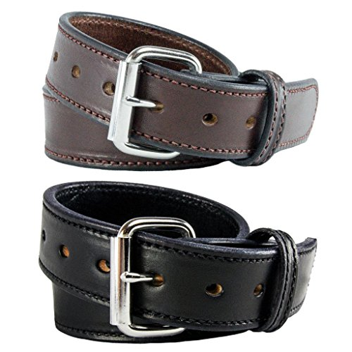 Read About The Ultimate Concealed Carry CCW Leather Gun Belt - 14 ounce 1 1/2 inch Premium Full Grai...