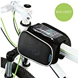 WOTOW Cycling Frame Pannier Cell Phone Bag, Bike Front Top Tube Touchscreen Saddle Bag Rack Mountain Road Bicycle Pack Double Pouch Mount Phone Bags Fit Iphone 6 5s Samsung Galaxy S4 up to 5' ¡­