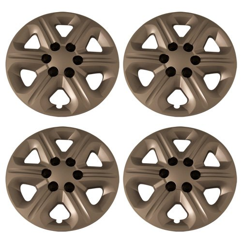 17 inch silver and black hubcaps - 8