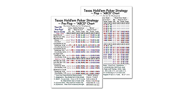 2ct Texas Holdem Poker Abcd Strategy Wallet Cards I Ii Pre Flop Flop Turn River Fsumom03 0721371362794 Amazon Com Books