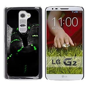 iBinBang / Funda Carcasa Cover Skin Case - Negro Mamba serpiente verde del reptil Venom - LG G2 D800 D802 D802TA D803 VS980 LS980