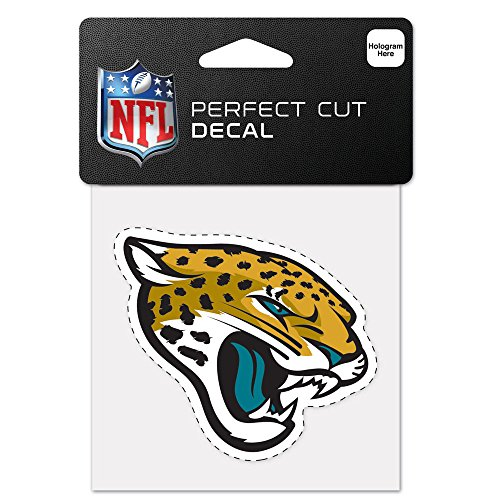 Wincraft NFL Jacksonville Jaguars 63049013 Perfect Cut Color Decal, 4