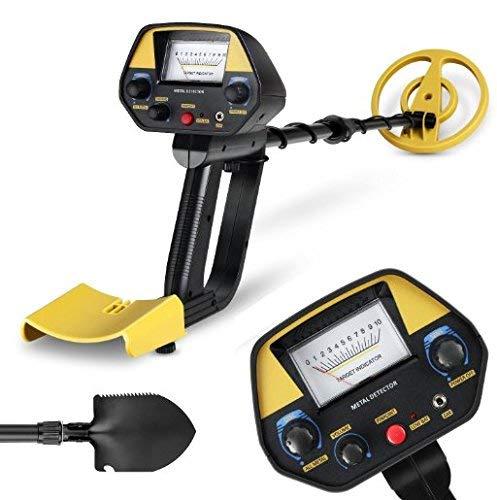 INTEY Detector De Metales Extraíbles Negro con Pala Plegable y Mochila(Amarillo) product image