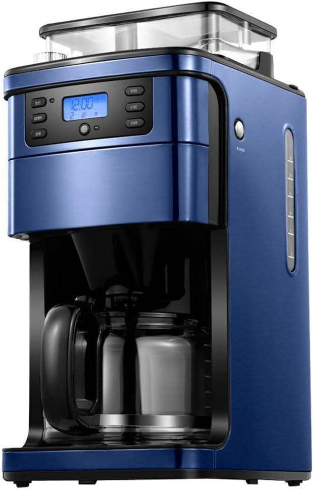 KOIUJ Moler y Brew Cafetera automática con Reserva Inteligente de 24 Horas, se Puede Hacer hasta 12 Tazas de café a la Vez-1.5 L (Azul): Amazon.es: Hogar