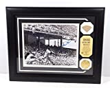 Willie Mays Signed Photo with Game Used Bat and Coin Framed Auto DA025206 - Autographed MLB Photos