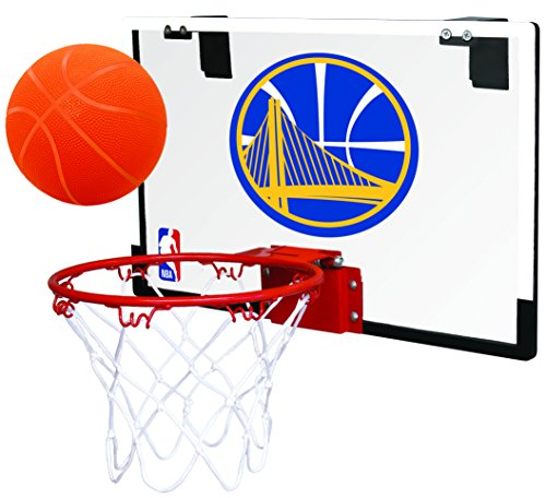 NBA Golden State Warriors 00664218111NBA Game On Polycarbonate Hoop Set (All Team Options), Yellow, Youth