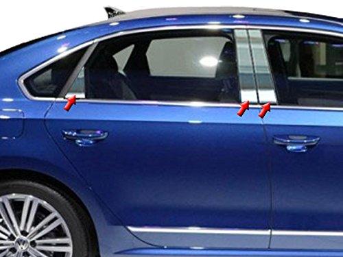 - QAA FITS Passat 2012-2019 Volkswagen (6 Pc: Stainless Steel Pillar Post Trim Kit, 4-Door) PP12676
