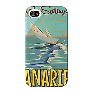 Canaries Full Wrap High Quality 3D Printed Case for iPhone 4 / 4s by Nick Greenaway + FREE Crystal Clear Screen Protector