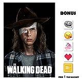 the walking dead season 5 poster - The Walking Dead Season 8 POSTER - Carl - 13 in x 19 in Movie Poster Flyer BORDERLESS + Free 1 Tile Magnet