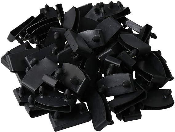 BQLZR Soportes de plástico de repuesto para sujetar y asegurar listones de madera en la base de la cama, paquete de 50